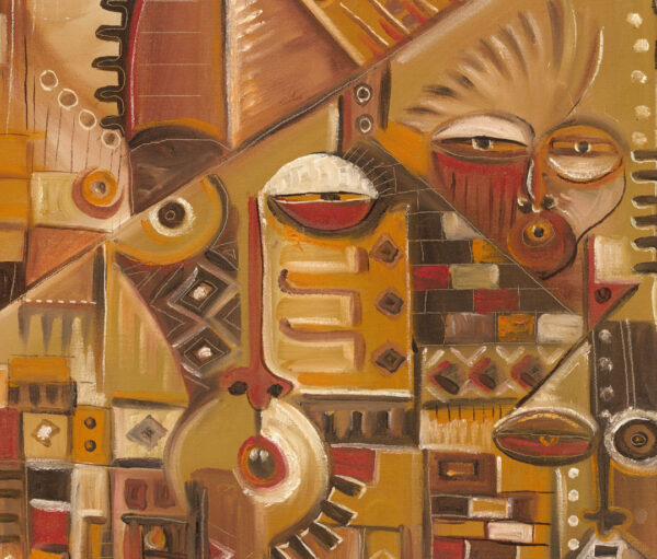 Home Sweet Home surreal painting close