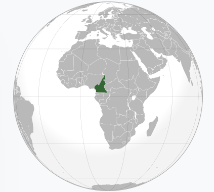 Cameroon location on world map