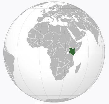 Kenya location on world map