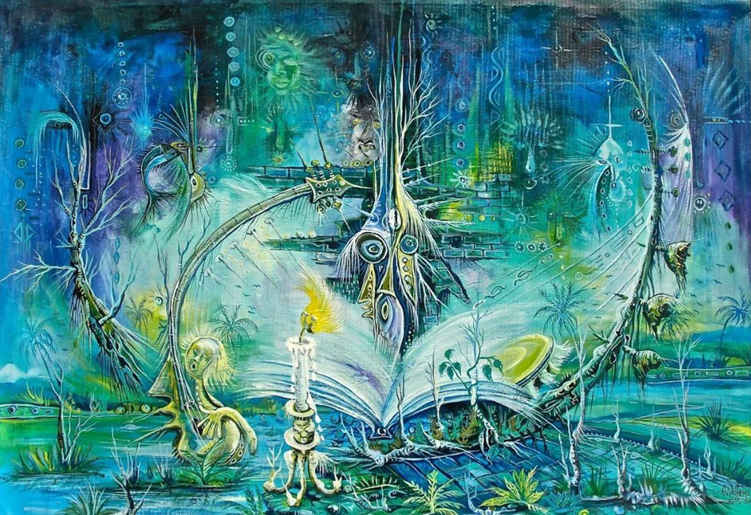 Knowledge is Power 6 education painting surreal