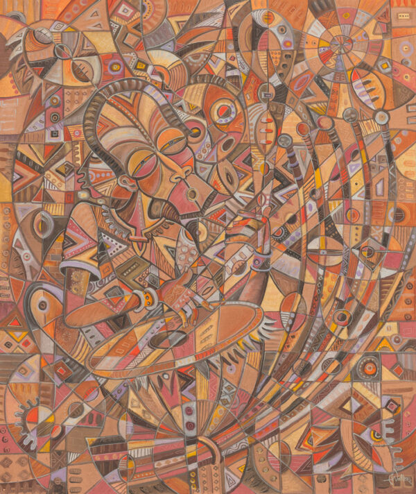 The Kora Player 1 musician painting