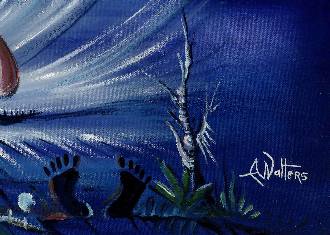 Kora Player 3 surreal painting