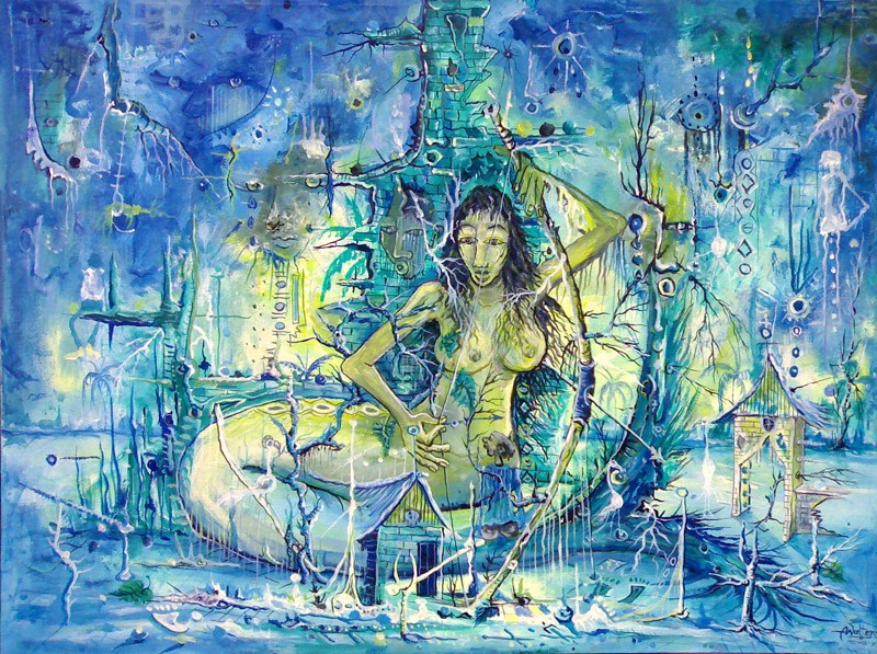 Mami Water surreal mermaid painting