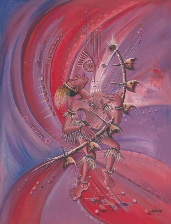 Midnight Storyteller violet surreal music painting