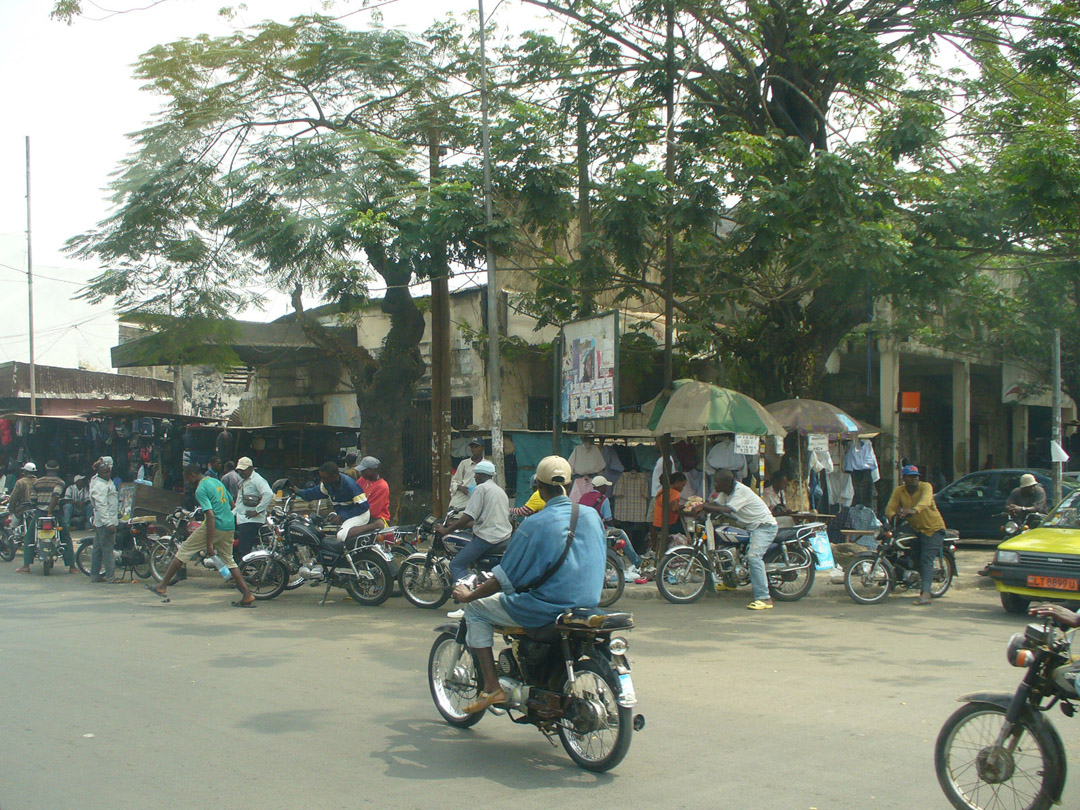 Motorcycle taxi stand
