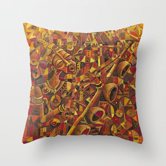 Mvet Player 2 pillow
