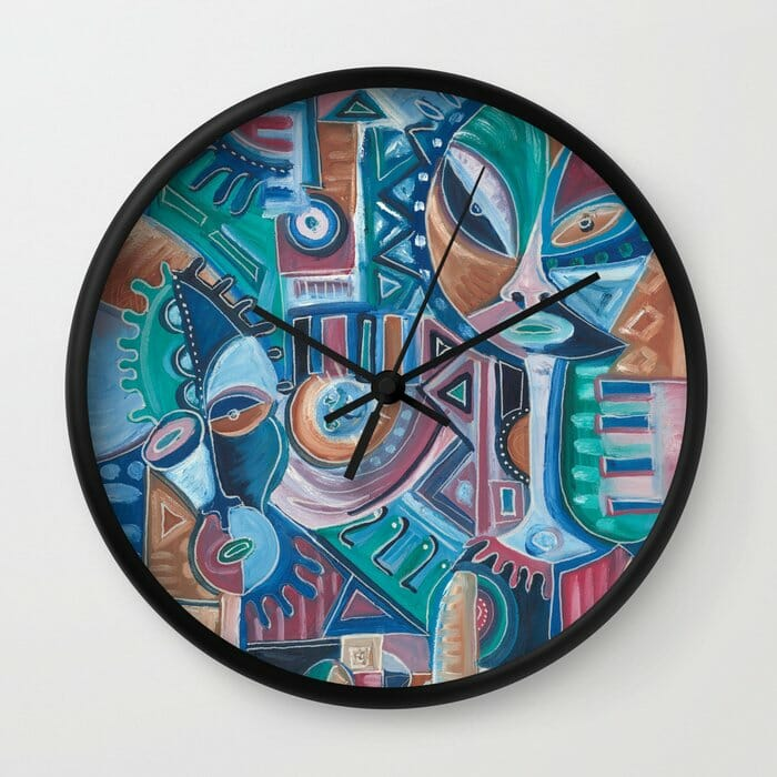 My Friend surreal painting on clock
