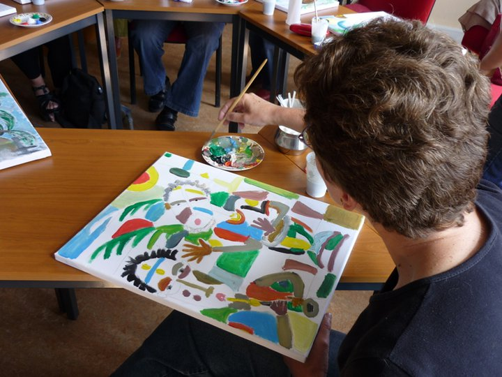 Learning to paint in Angu Walters style in Netherlands
