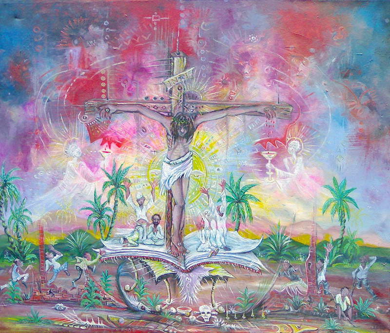 On the Last Day painting of Crucifixion