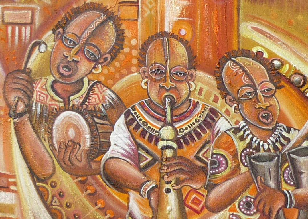 Opening the Festival painting of music in Africa close
