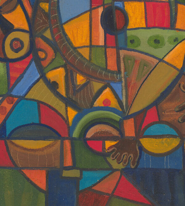 Play the Banjo music painting close