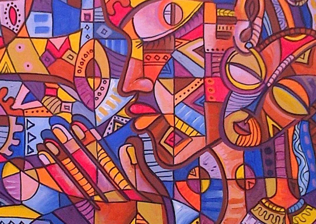 Prayer 5 painting of Christian praying close