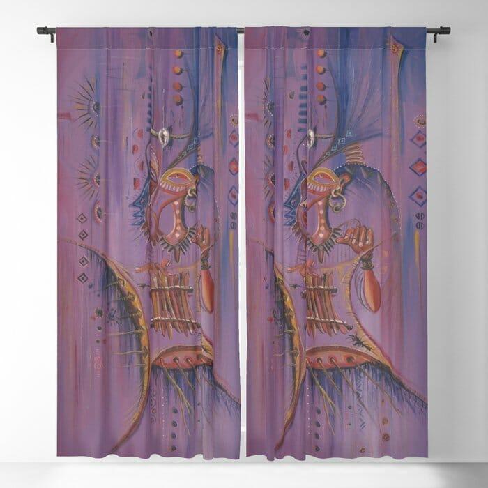 Sanza Player curtain