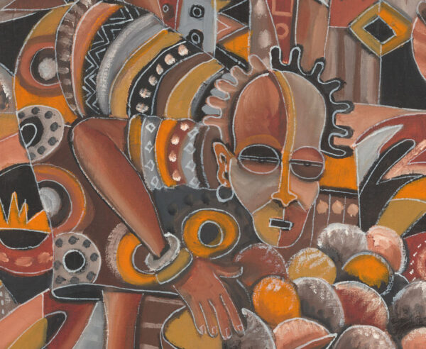 Saturday Market African painting close