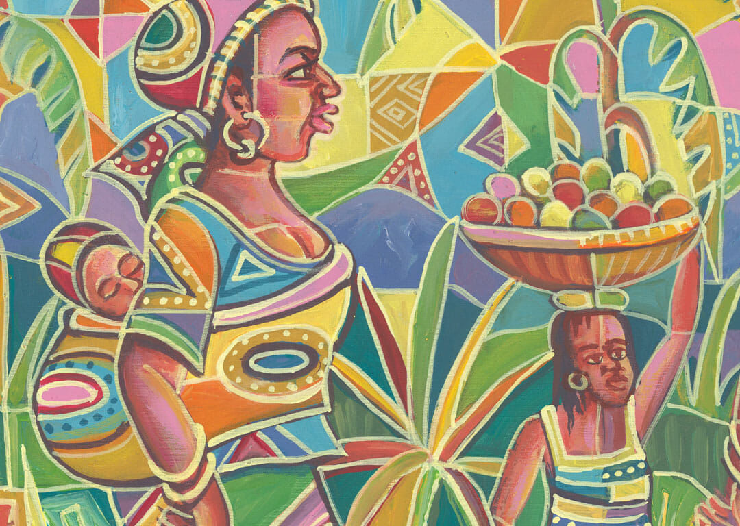Saturday Market 4 women in Africa close