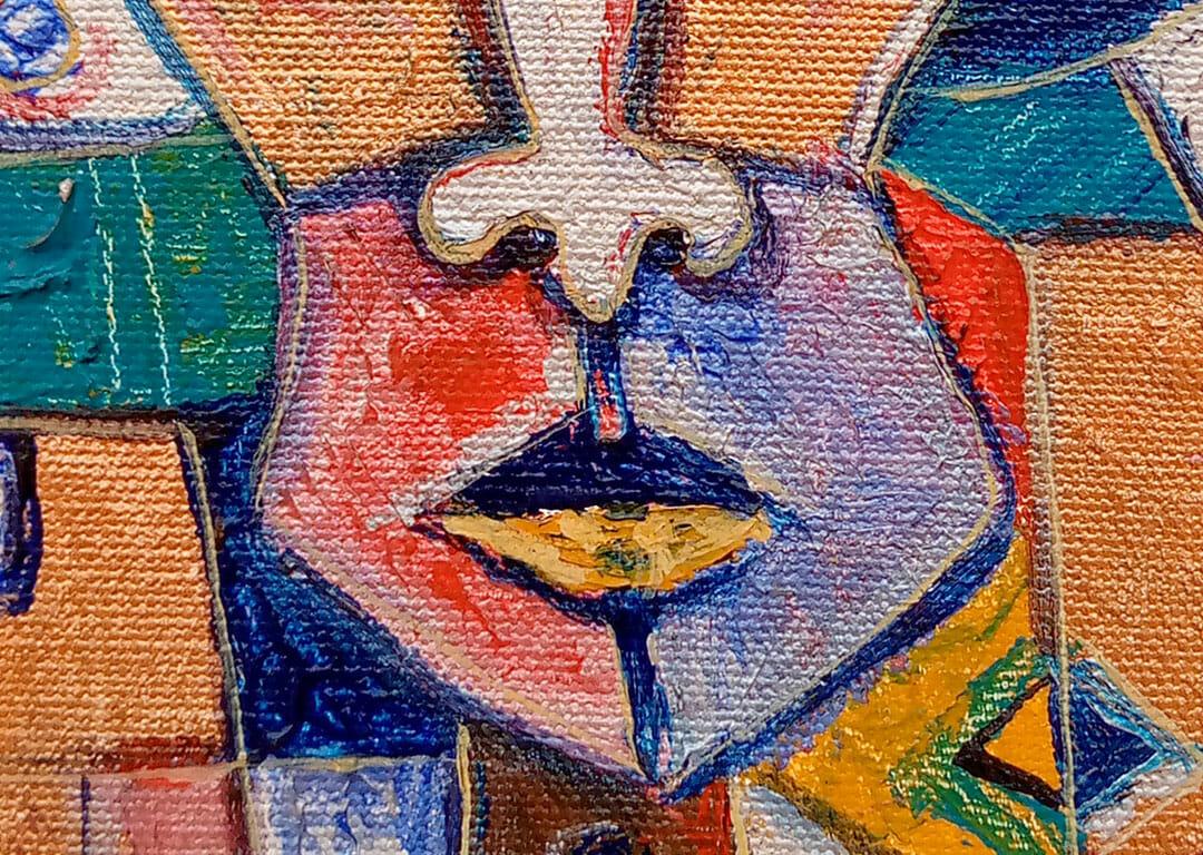 Self Portrait by Angu Walters close