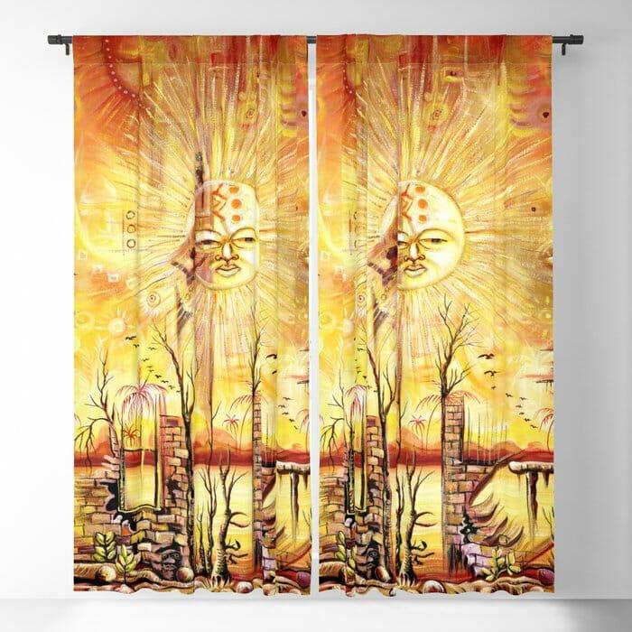 Sun Shine in my Mind curtains