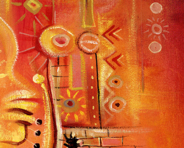 Sun Shine in my Mind surreal painting close
