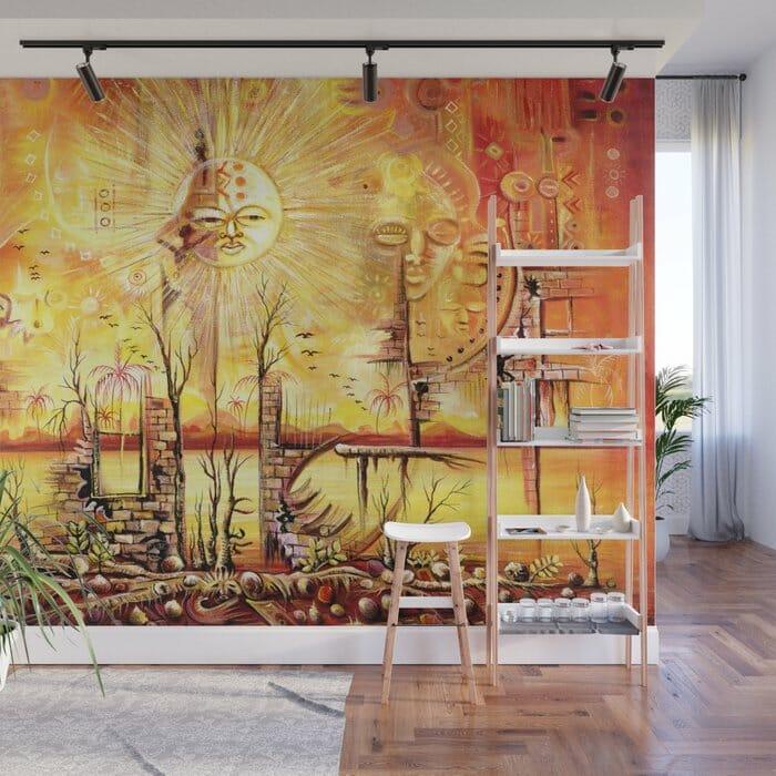 Sun Shine in my Mind wall mural