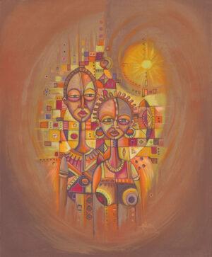 The Couple African portrait art