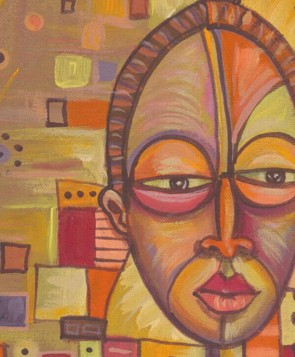 The Couple African portrait art close