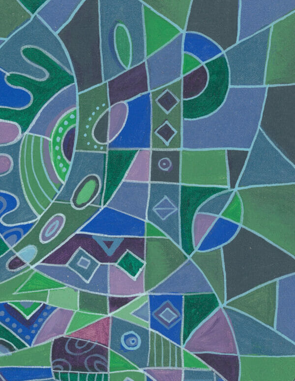 The Flutist 7 abstract figurative music painting close
