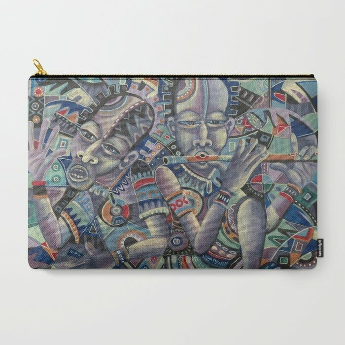The Drummer and the Flutist 2 carry-all pouch
