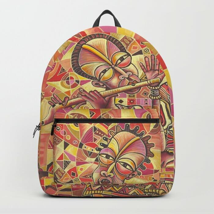 Drummer and Flutist 3 backpack