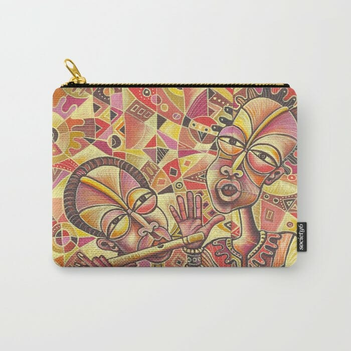 Drummer and Flutist 3 carry-all pouch