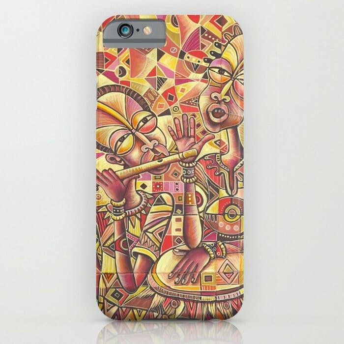 Drummer and Flutist 3 iPhone case