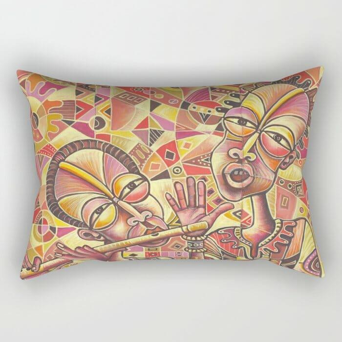 Drummer and Flutist 3 pillow