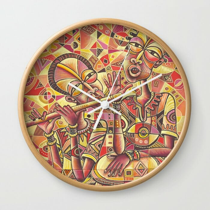 Drummer and Flutist 3 clocks