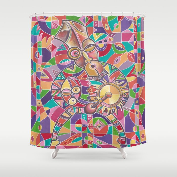 The Drummer 12 shower curtain