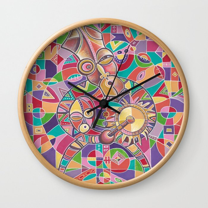 The Drummer 12 wall clock