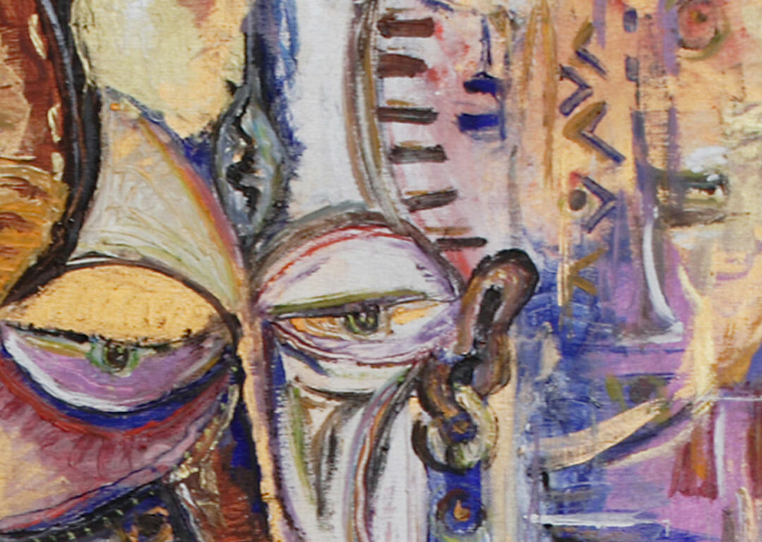 The Flutist 9 surreal African art close