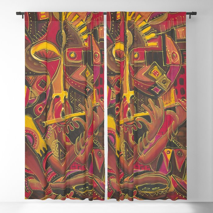 The Flutist 1 curtains