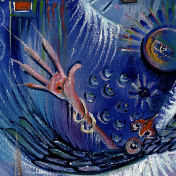 Kora Player 3 surreal painting close