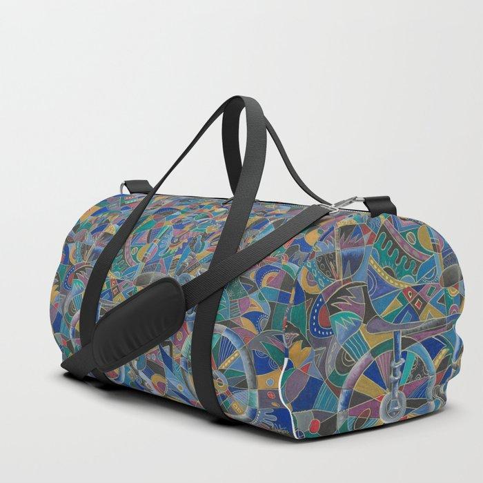 The Last Cyclist duffle bag