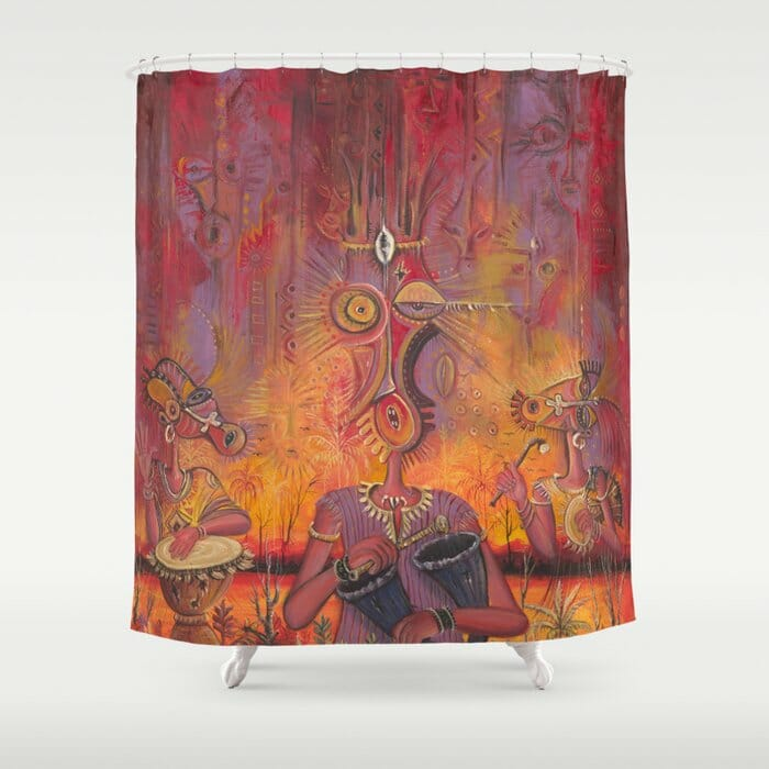 The Town Cryer shower curtain