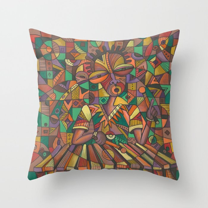 Xylophone Player 4 pillow