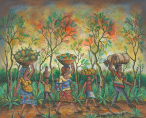 To the Market 3 African village