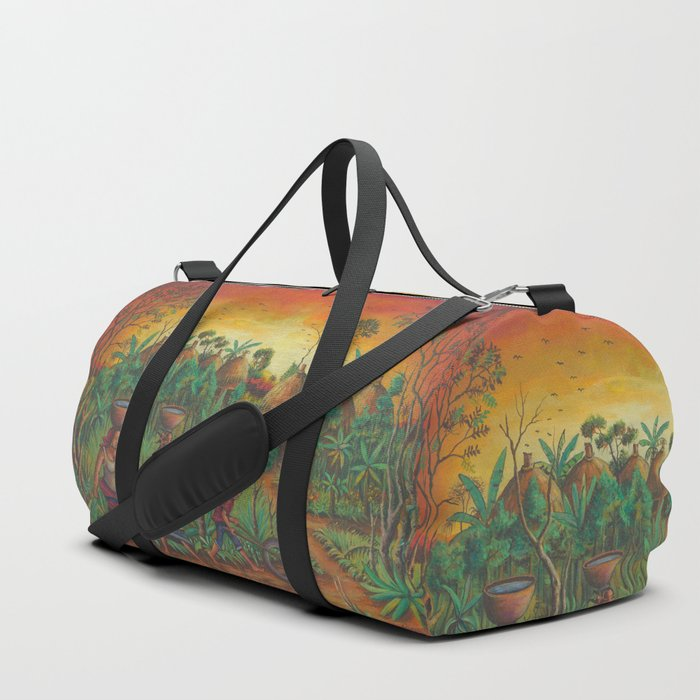 Village painting duffle bag