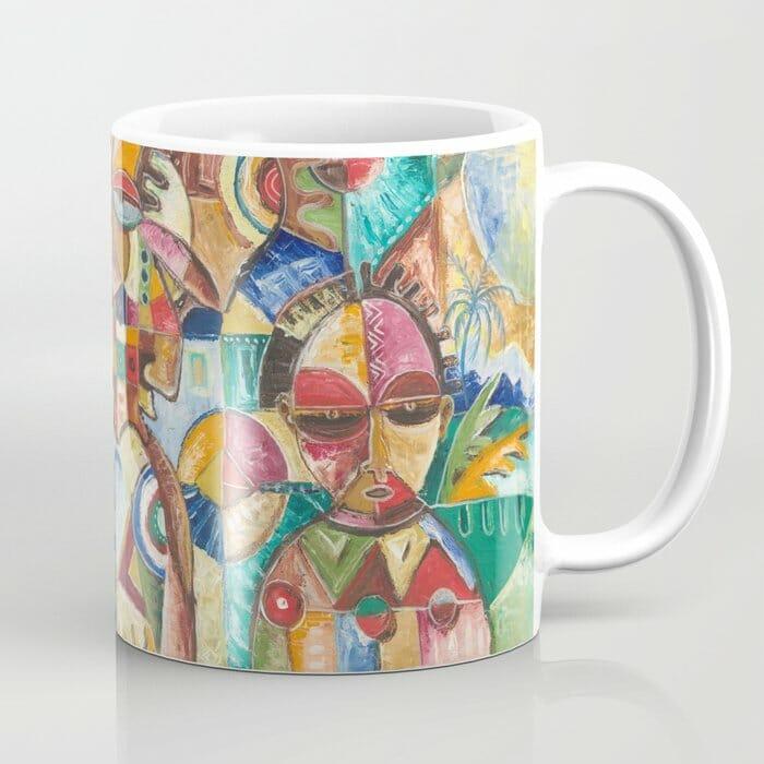 Welcome painting on a coffee mug