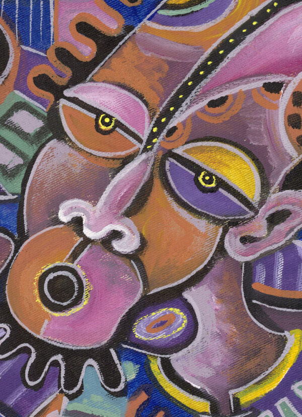 The Xylophone Player 2 musician painting close