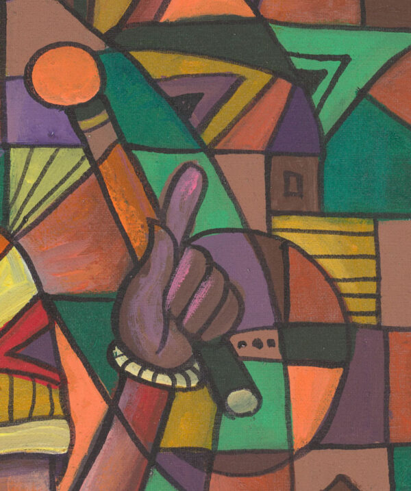 The Xylophone Player 4 painting of musician close