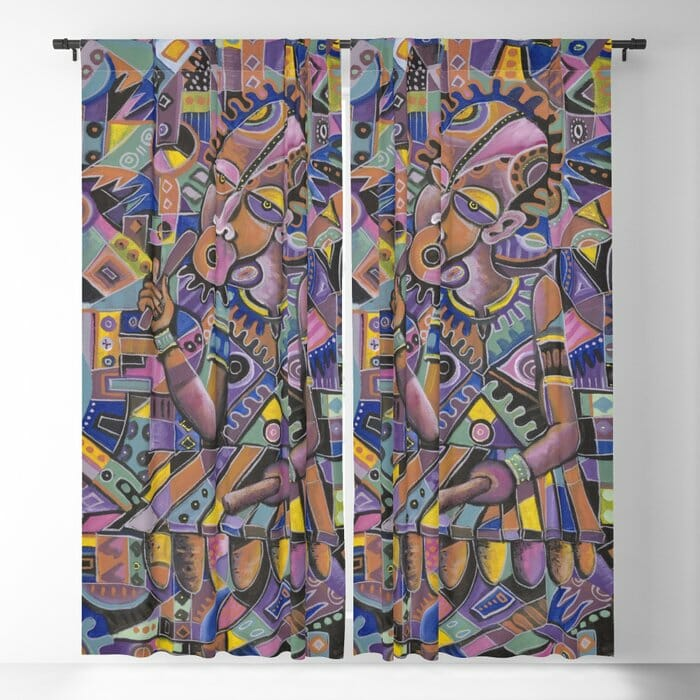 The Xylophone Player 2 curtains