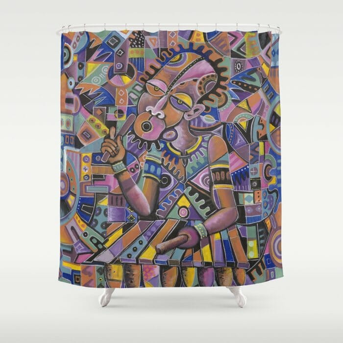The Xylophone Player 2 shower curtain